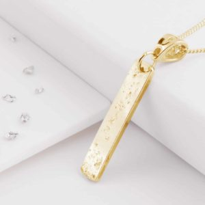 9ct Gold Sterling Silver Oblong Pendant