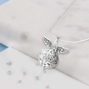 Commemorative Angel Wings Treasure Ball Pendant.