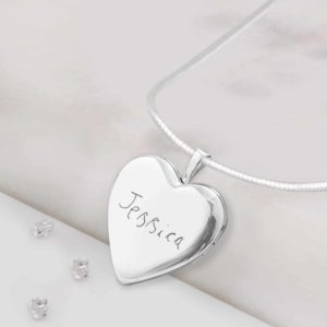 Heart Cremation Memorial Locket Front