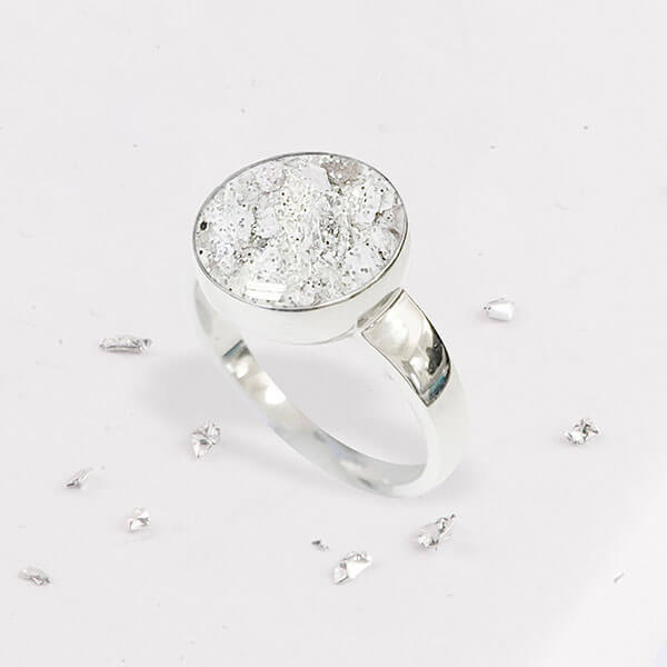 Resin Inlaid Silver Ring