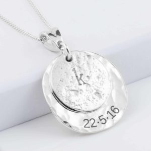 Silver Love Imprinted Pendant