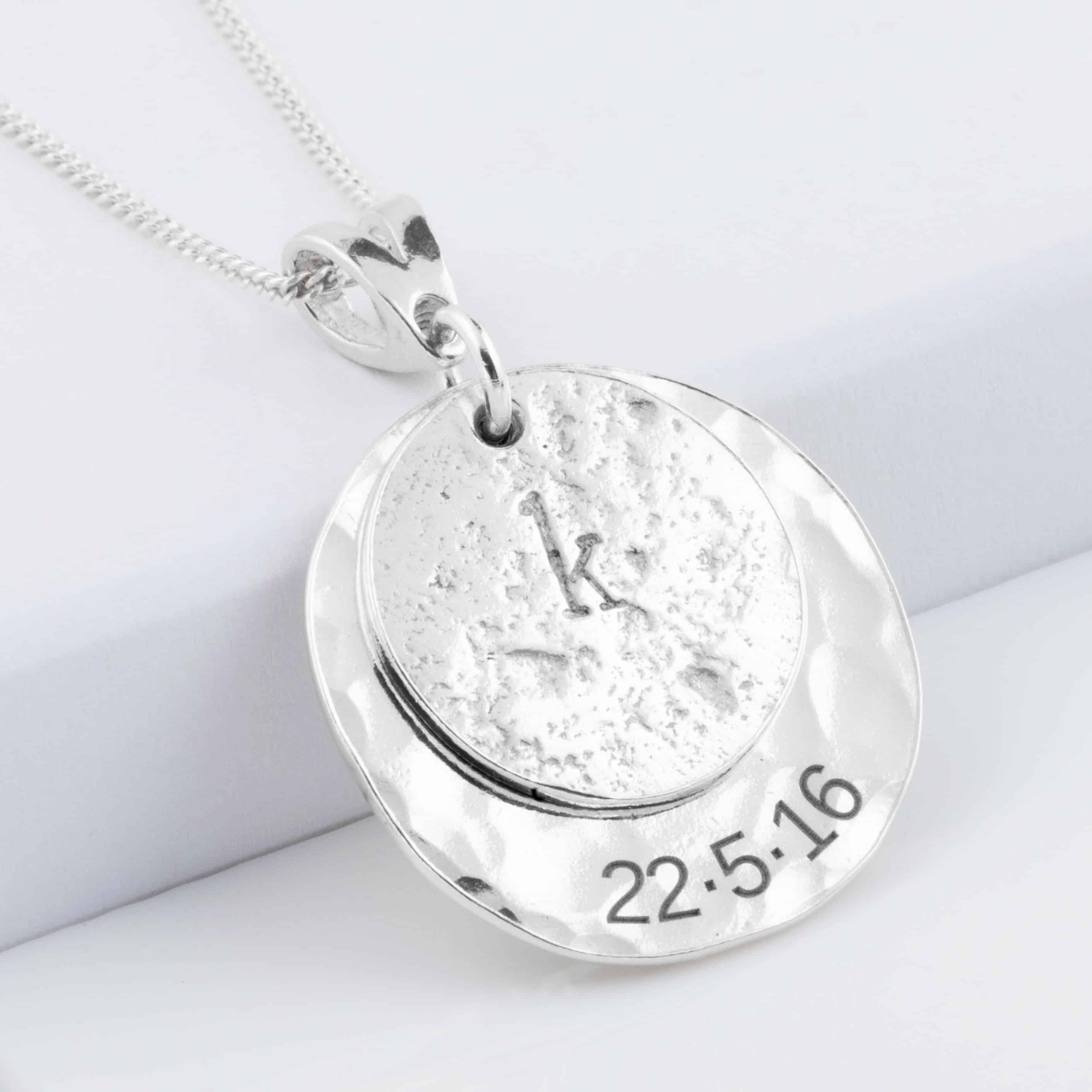 Silver Love Imprinted Pendant