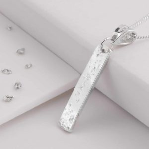 Sterling Silver Oblong Bar Pendant