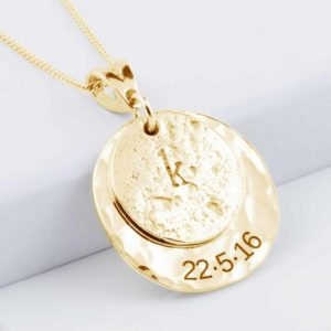 Yellow Gold Hair Imprinted Love Necklace