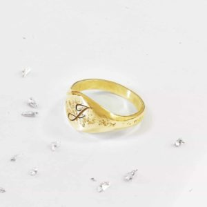 Yellow Gold Unisex Signet Ring