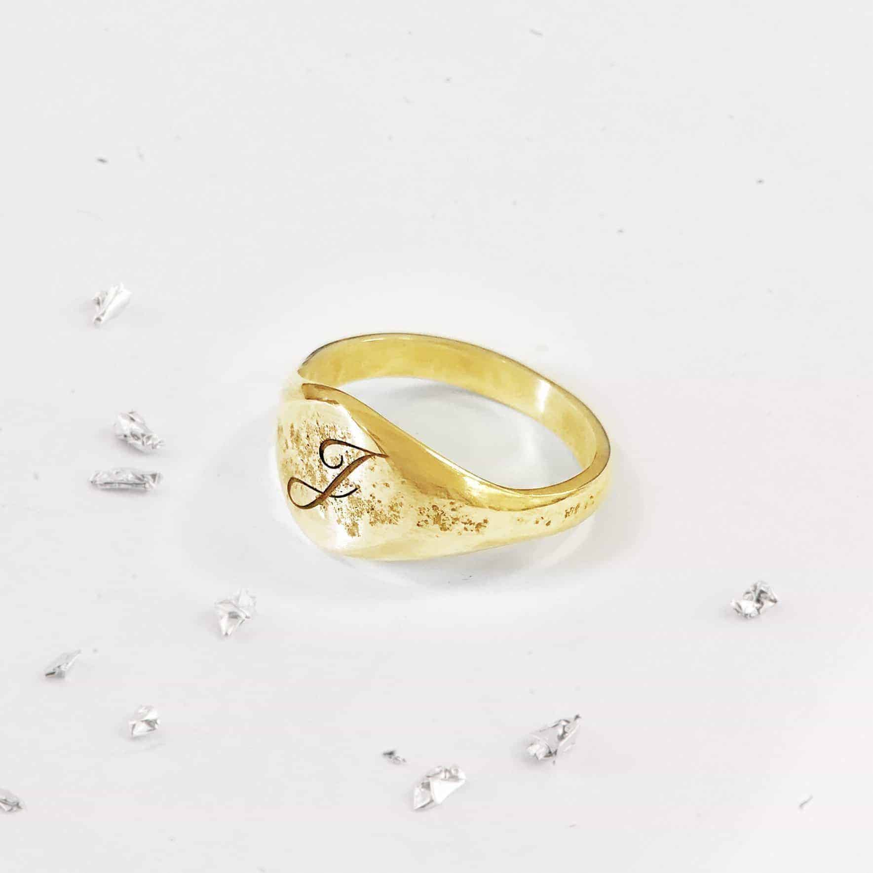 Yellow Gold Unisex Signet Ring