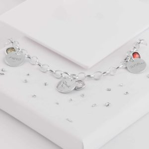 Birthstone Triple Disc Bracelet Back View