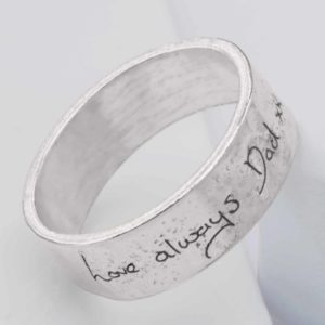 Handwriting Ashes Memorial Ring