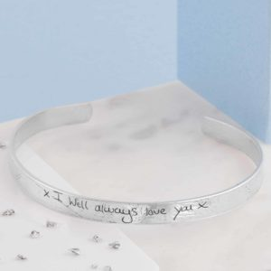 Imprinted Handwriting Bangle
