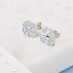 Resin Square Stud Earrings