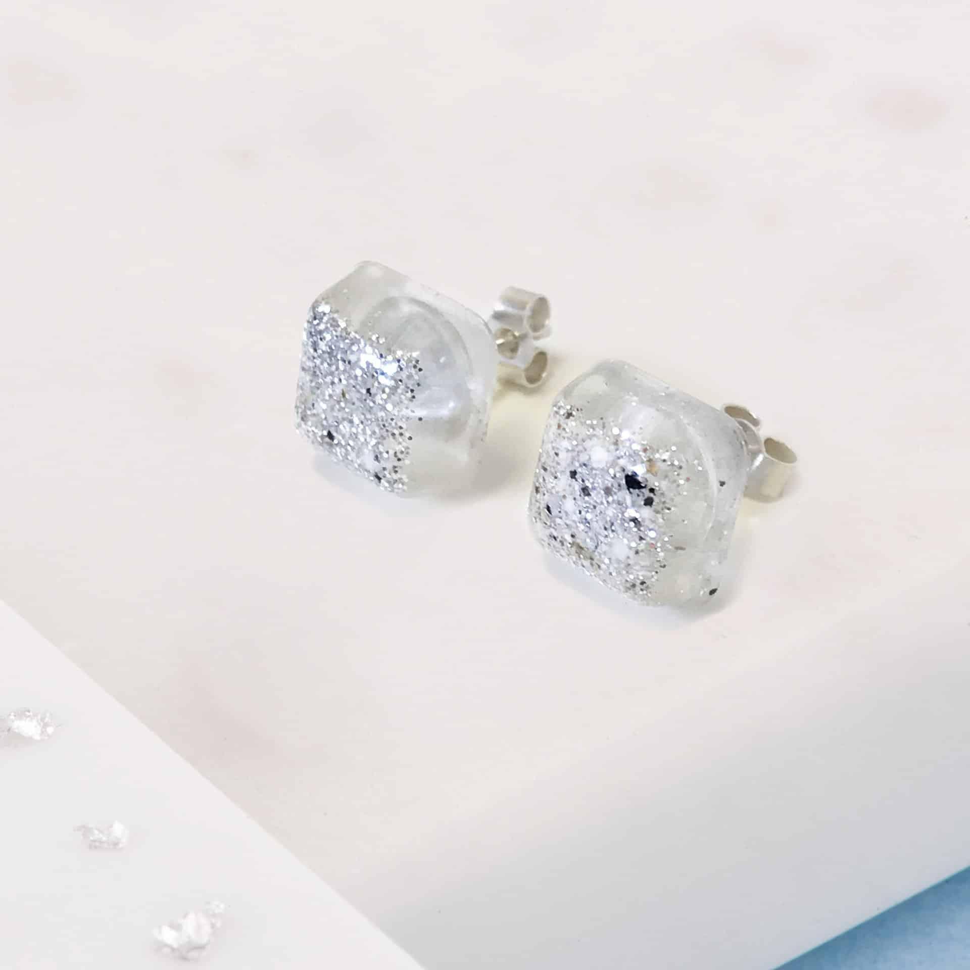 Resin Square Stud Earrings