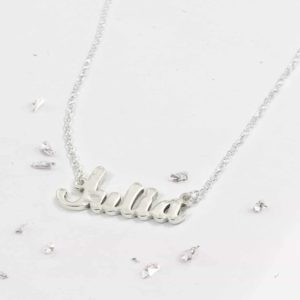Sterling Silver Imprinted Name Necklace