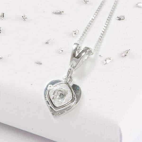 Ashes layered silver pendant