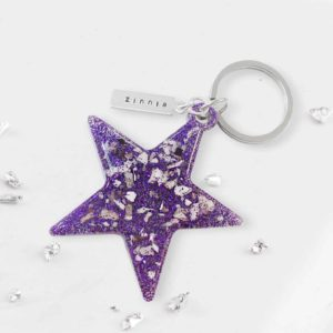 Ashes Star Keyring