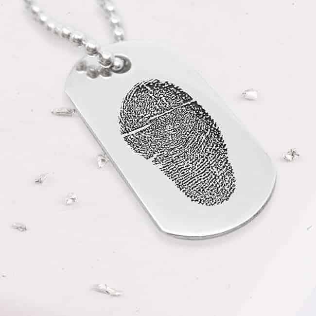 Fingerprint Dog Tag Necklace