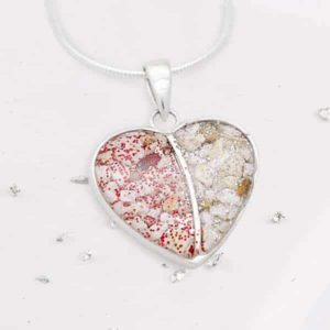Resin Heart Pendant on Snake Chain