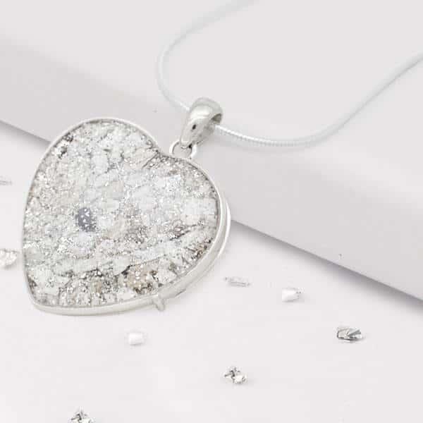 Inlaid Resin Heart Pendant