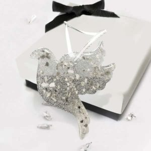 Resin dove Christmas decoration