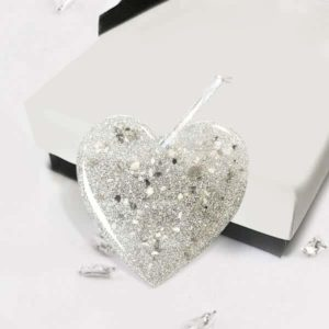 Resin heart Christmas decoration
