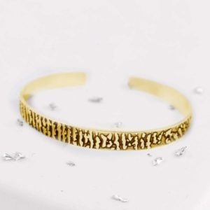 Gold Torque Fingerprint Bangle