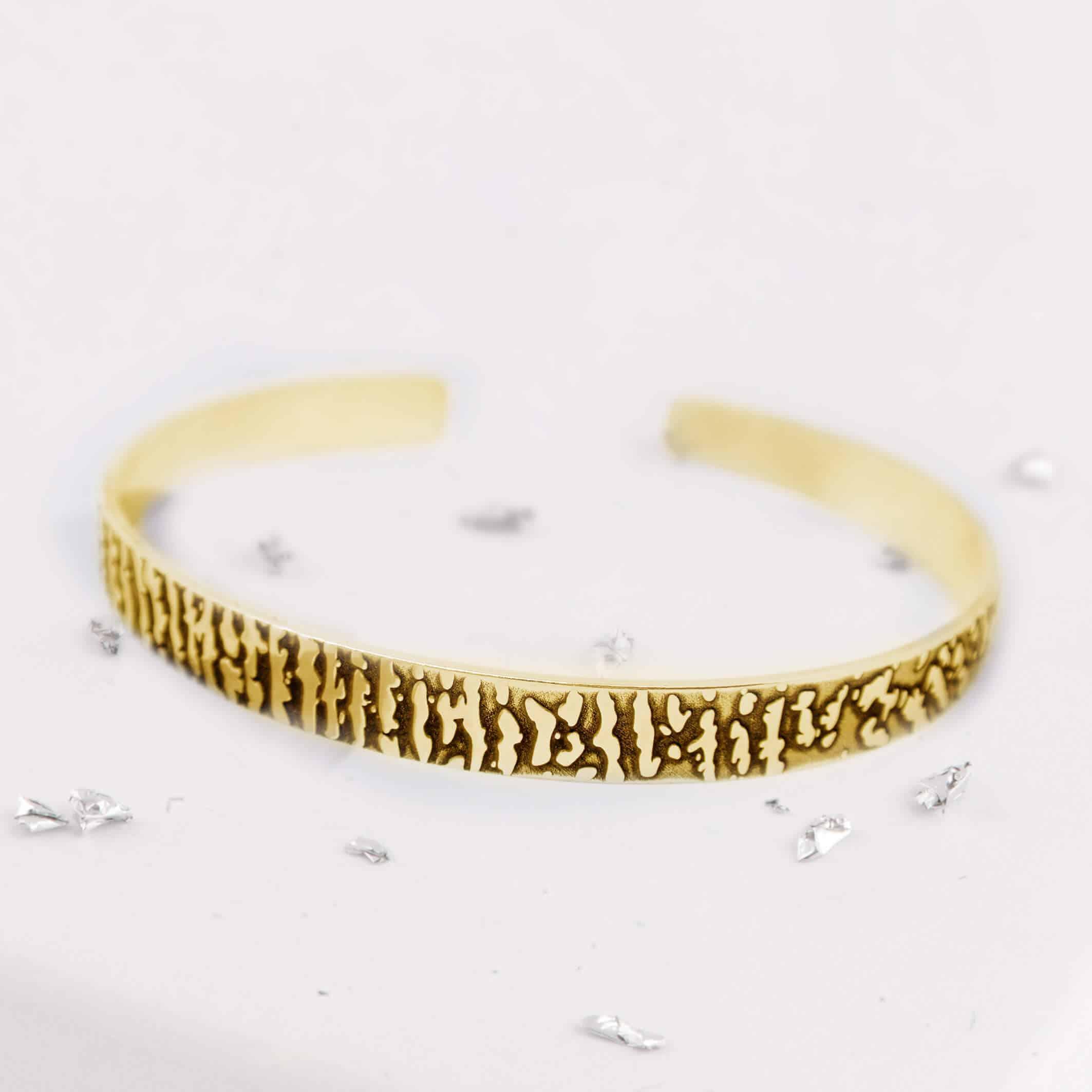 Gold Torque Fingerprint Bangle