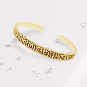 fingerprint bangle gold main view