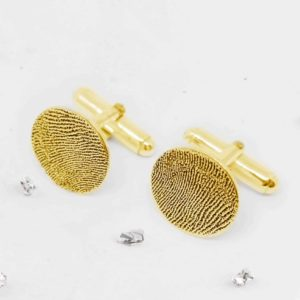 Gold fingerprint cufflinks