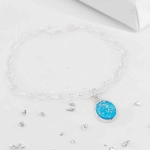Ashes round glass bracelet