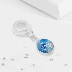 Ashes round glass charm