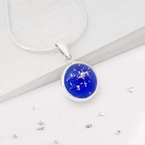 Small round glass pendant