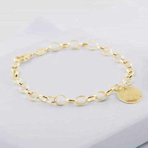 gold memorial disc chain